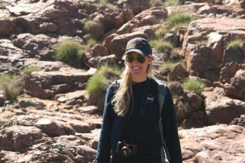 Angélica Anglés, astrobiologist, visiting New Zealand