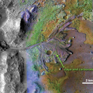 On ancient Mars, water carved channels and transported sediments to form fans and deltas within lake basins.   Image Credit: NASA/JPL-Caltech/MSSS/JHU-APL
